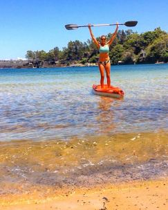 Oh look who can stand up paddle. PC: Stephanie Burke