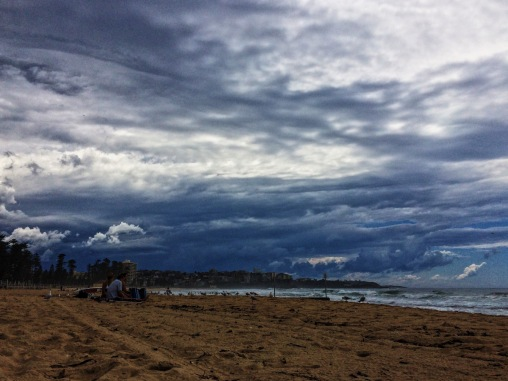 Funky cloud formations over Manly Beach