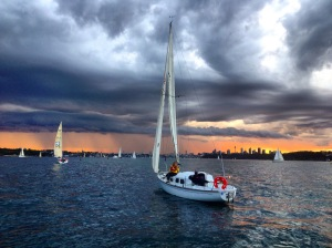 Towards the storm we go.  PC: Stephanie Burke