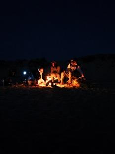 Campfire vibing