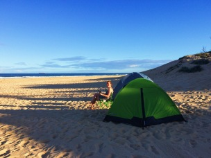 The perfect set up at Redhead beach