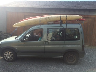 "Kayaks feat. my new ""roof racks"""